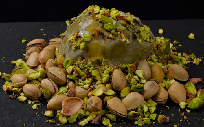 Con pistachos de Sicilia
