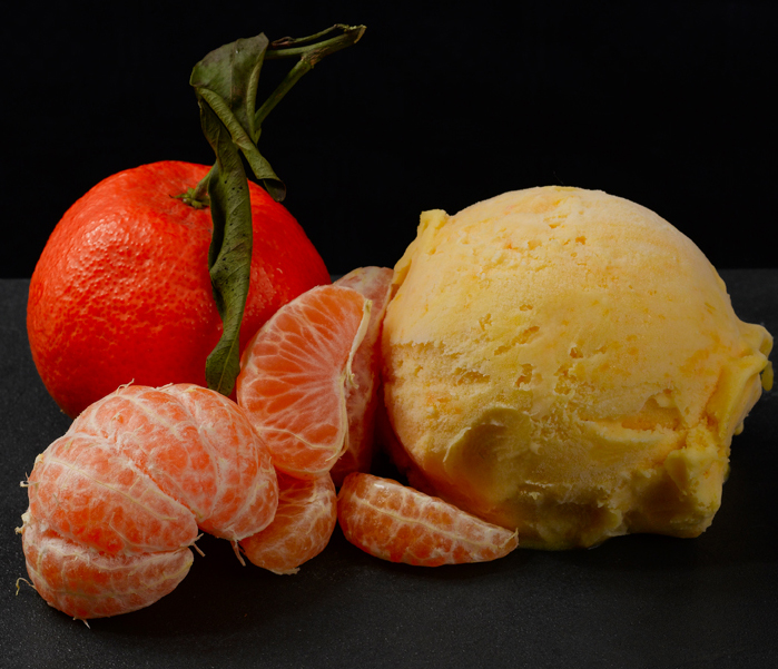 Con mandarinas recién exprimidas